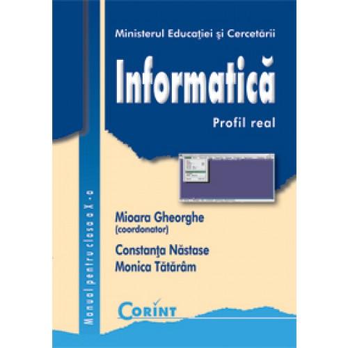 Informatică/profil real - Manual pentru cls. a X-a