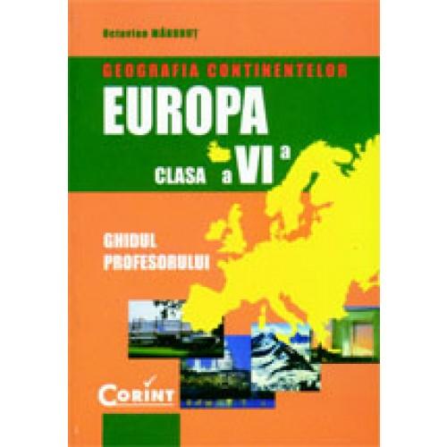 Geografia continentelor - Europa. Manual cls. a VI-a