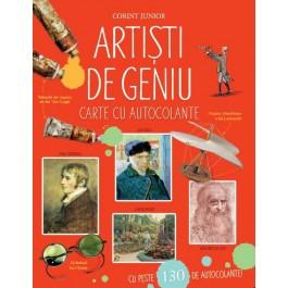 Artişti de geniu. Carte cu autocolante