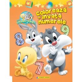 Colorează şi învaţă numerele. Baby Looney Tunes