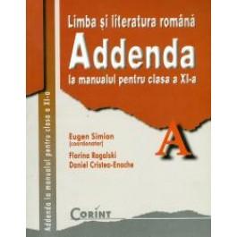 Addenda la manualul pentru clasa a XI-a. Limba şi literatura română