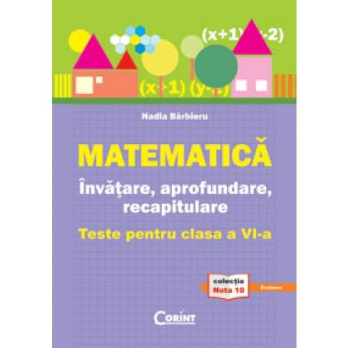 Matematică. Învăţare, aprofundare, recapitulare. Teste pentru clasa a VI-a